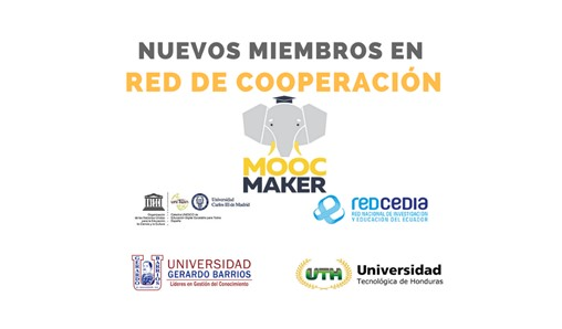 Nuevos miembros en red de cooperación MOOC-Maker