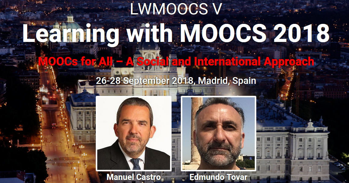 Learning with MOOCs 2018 – LWMOOCS V